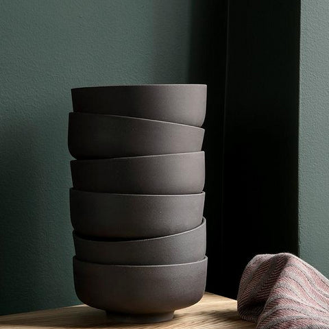 Ceramics Sekki Bowls - Charcoal (set of 3) - The Union Project