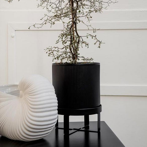 Plant Pots & Vases Ferm Living Bau Pot Small: Black - The Union Project