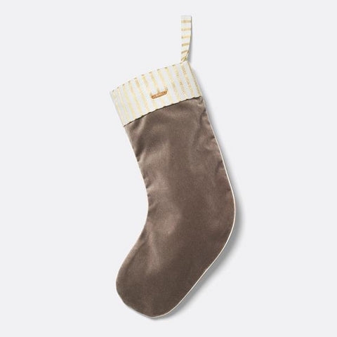 Home Accessories Christmas Velvet Stocking Brown - The Union Project