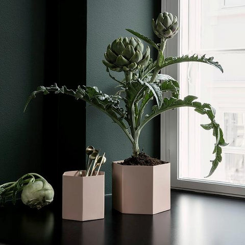 Plant Pots & Vases Hexagon Pot Extra Large: Rose - The Union Project