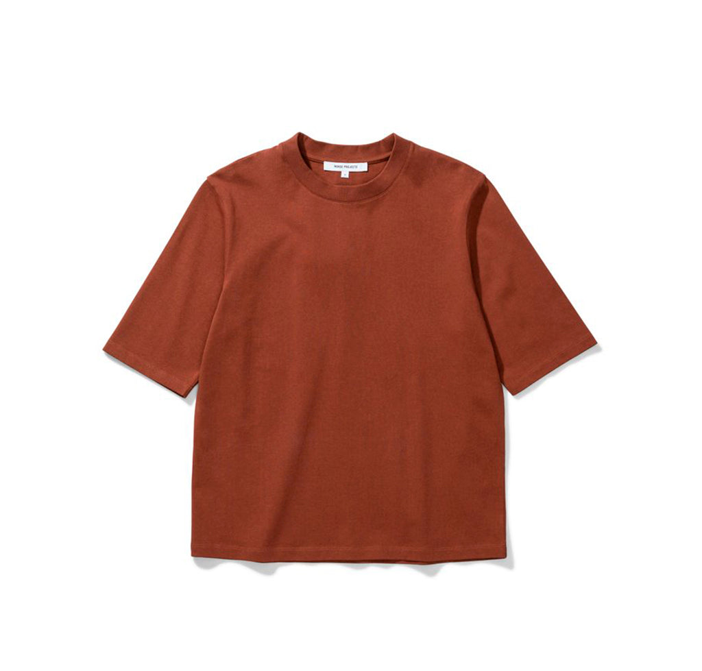 Norse Projects Womens Ginny Heavy Jersey: Madder Brown - The Union Project