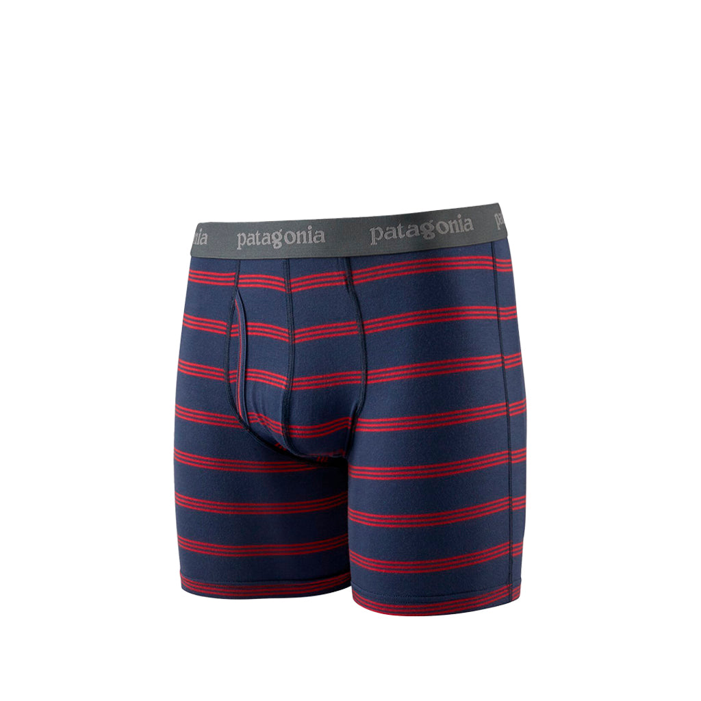 Patagonia Essential Boxer Briefs 6in: Pier Stripe: New Navy - The Union Project
