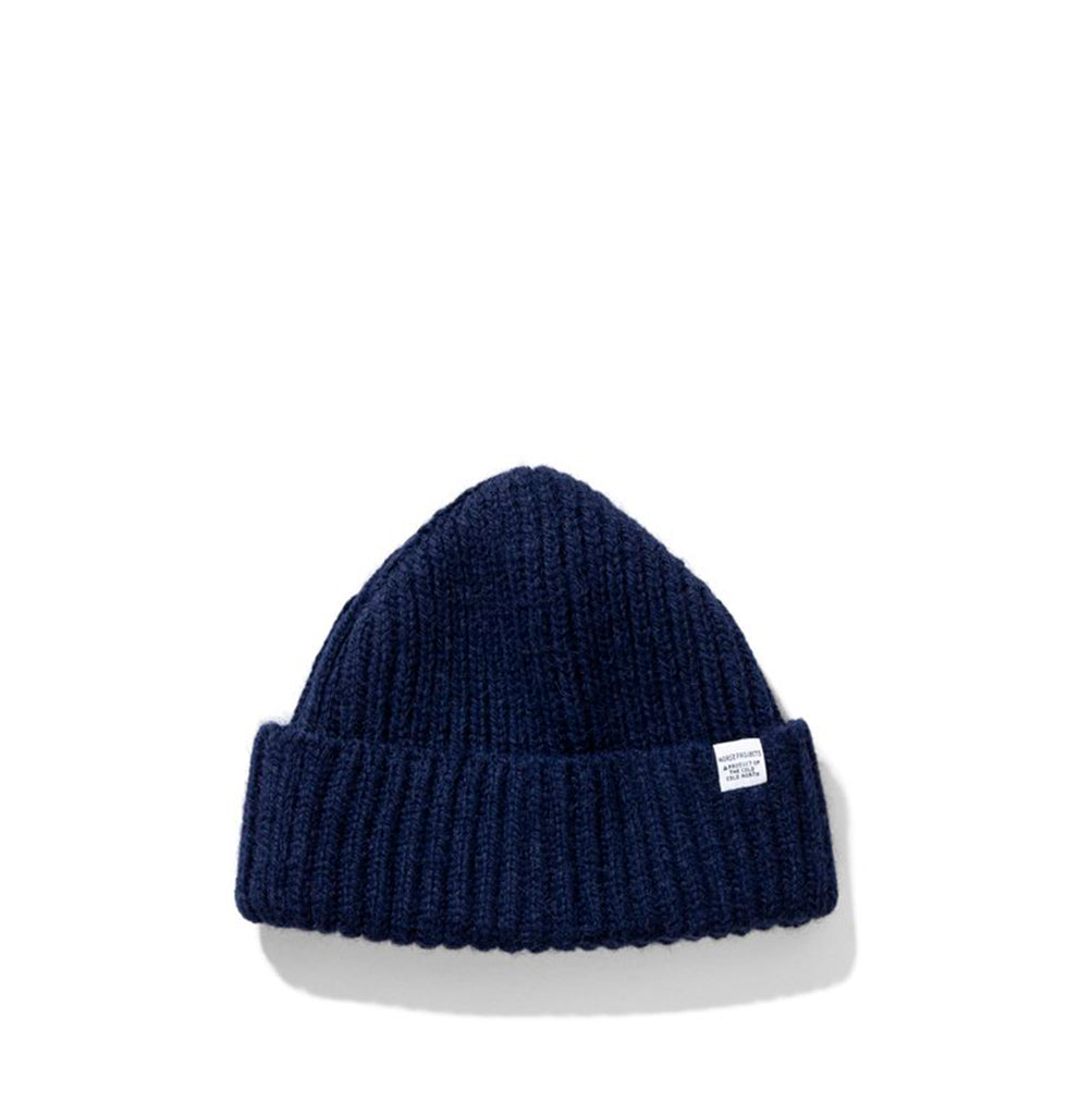 Norse Projects Womens Gudrun Alpaca Beanie: Dark Navy - The Union Project