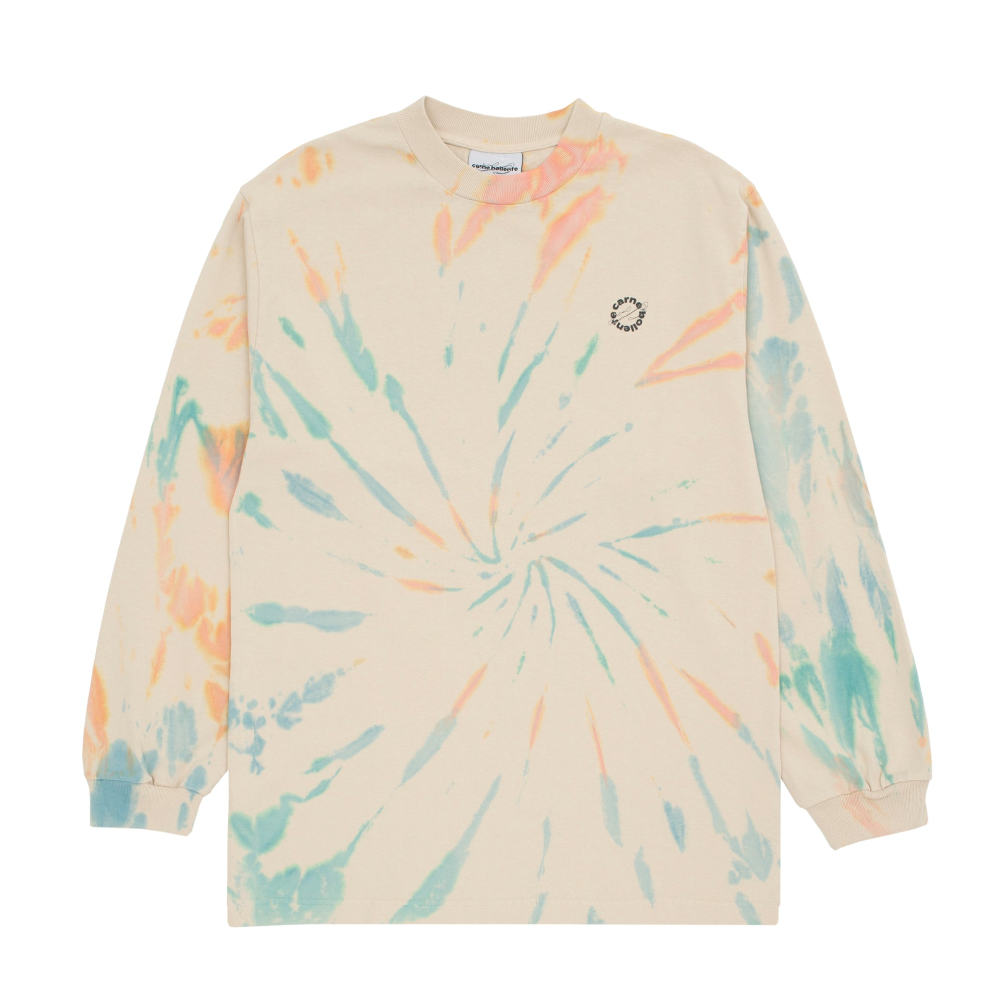 Carne Bollente Handy Fortune T-Shirt: Tie Die Beige - The Union Project