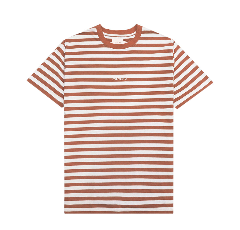 Parlez Ladsun Heavy Stripe T-Shirt: Brown - The Union Project