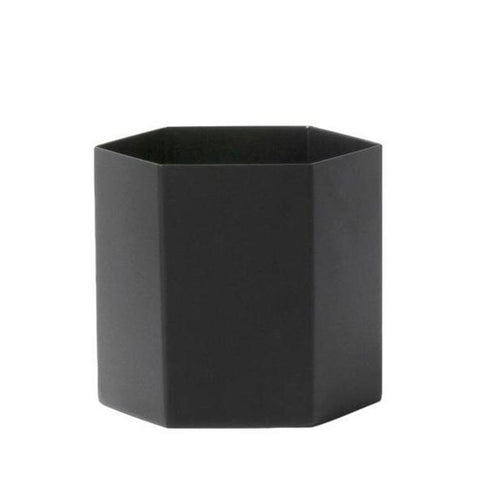 Plant Pots + Vases Ferm Living Hexagon Pot Large: Black - The Union Project, Cheltenham, free delivery