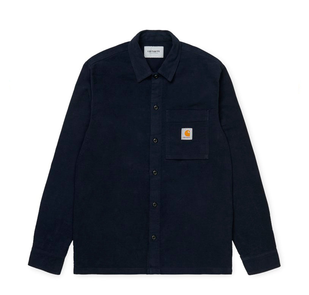 Carhartt WIP Holston Shirt: Dark Navy - The Union Project
