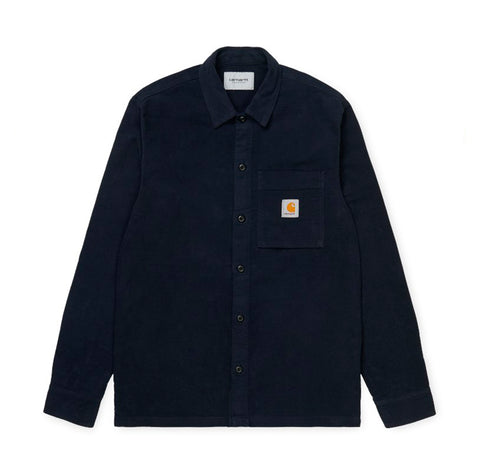 Shirts Carhartt WIP Holston Shirt: Dark Navy - The Union Project, Cheltenham, free delivery