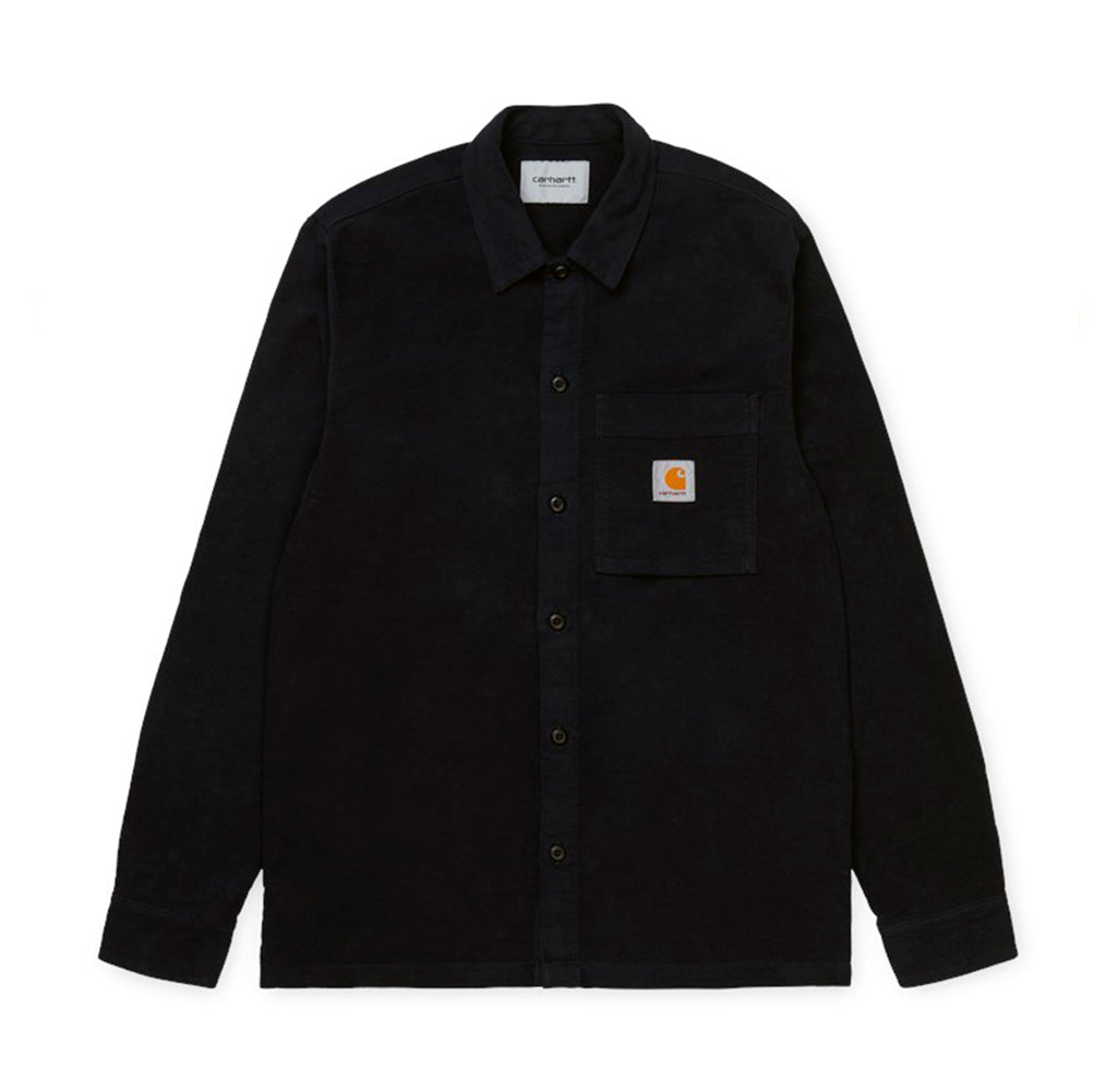 Carhartt WIP Holston Shirt: Black - The Union Project