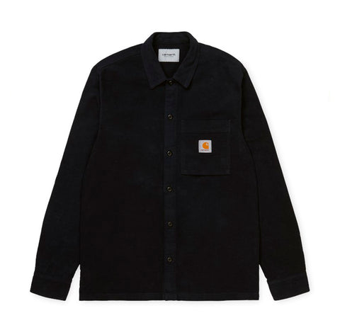 Shirts Carhartt WIP Holston Shirt: Black - The Union Project, Cheltenham, free delivery
