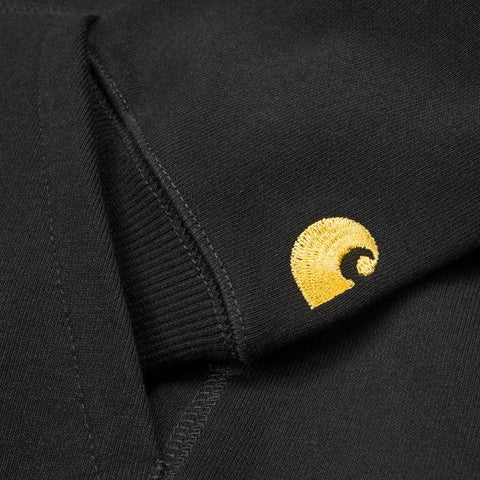 Hoods & Sweats Carhartt WIP Hooded Chase Sweat: Black - The Union Project