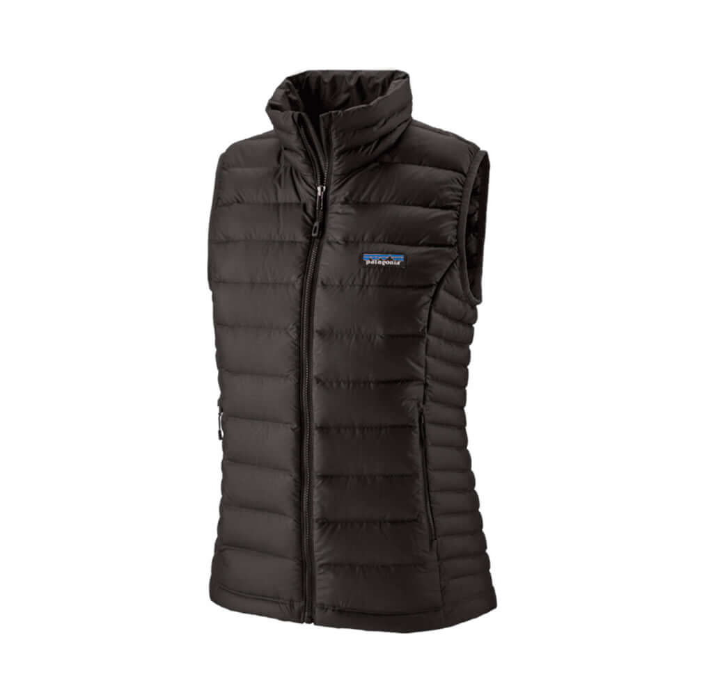 Patagonia Womens Down Sweater Vest: Black - The Union Project