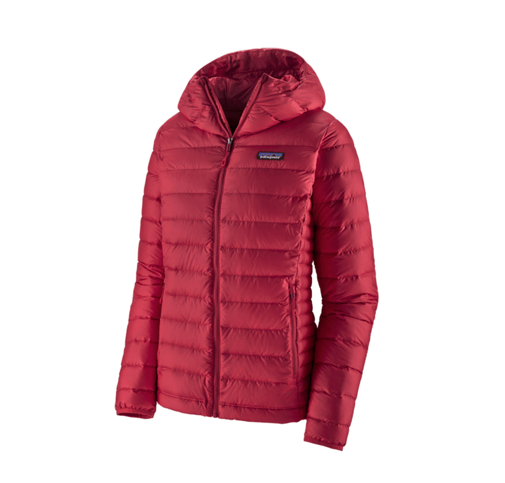 Patagonia Womens Down Sweater Hoody: Roamer Red - The Union Project