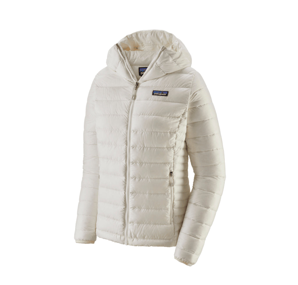 Patagonia Womens Down Sweater Hoody: Birch White - The Union Project