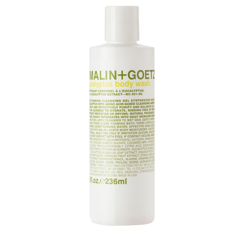 Skincare + Fragrance Malin + Goetz Eucalyptus Body Wash: 236ml - The Union Project, Cheltenham, free delivery
