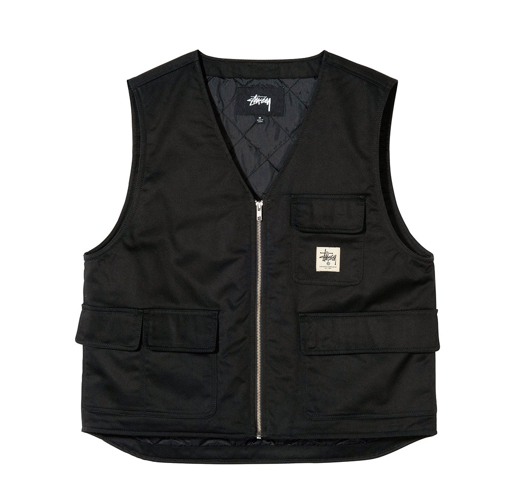 Outerwear Stussy Insulated Work Vest: Black - The Union Project, Cheltenham, free delivery