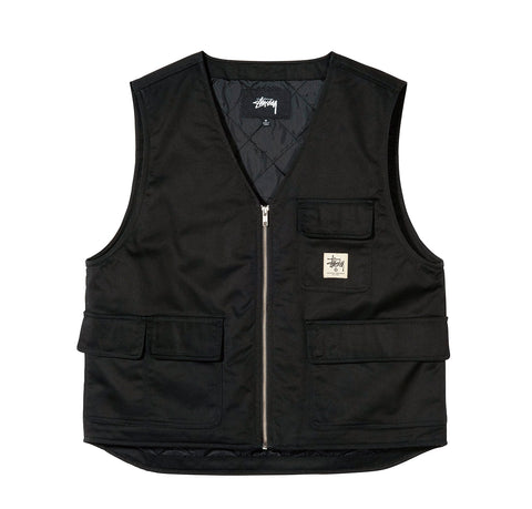 Stussy Insulated Work Vest: Black