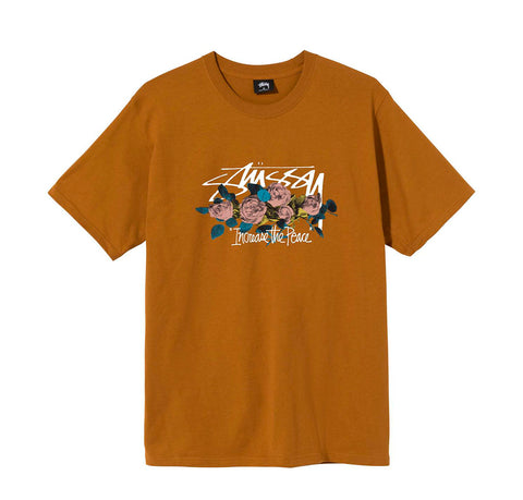 T-Shirts Stussy ITP Roses Tee: Caramel - The Union Project, Cheltenham, free delivery