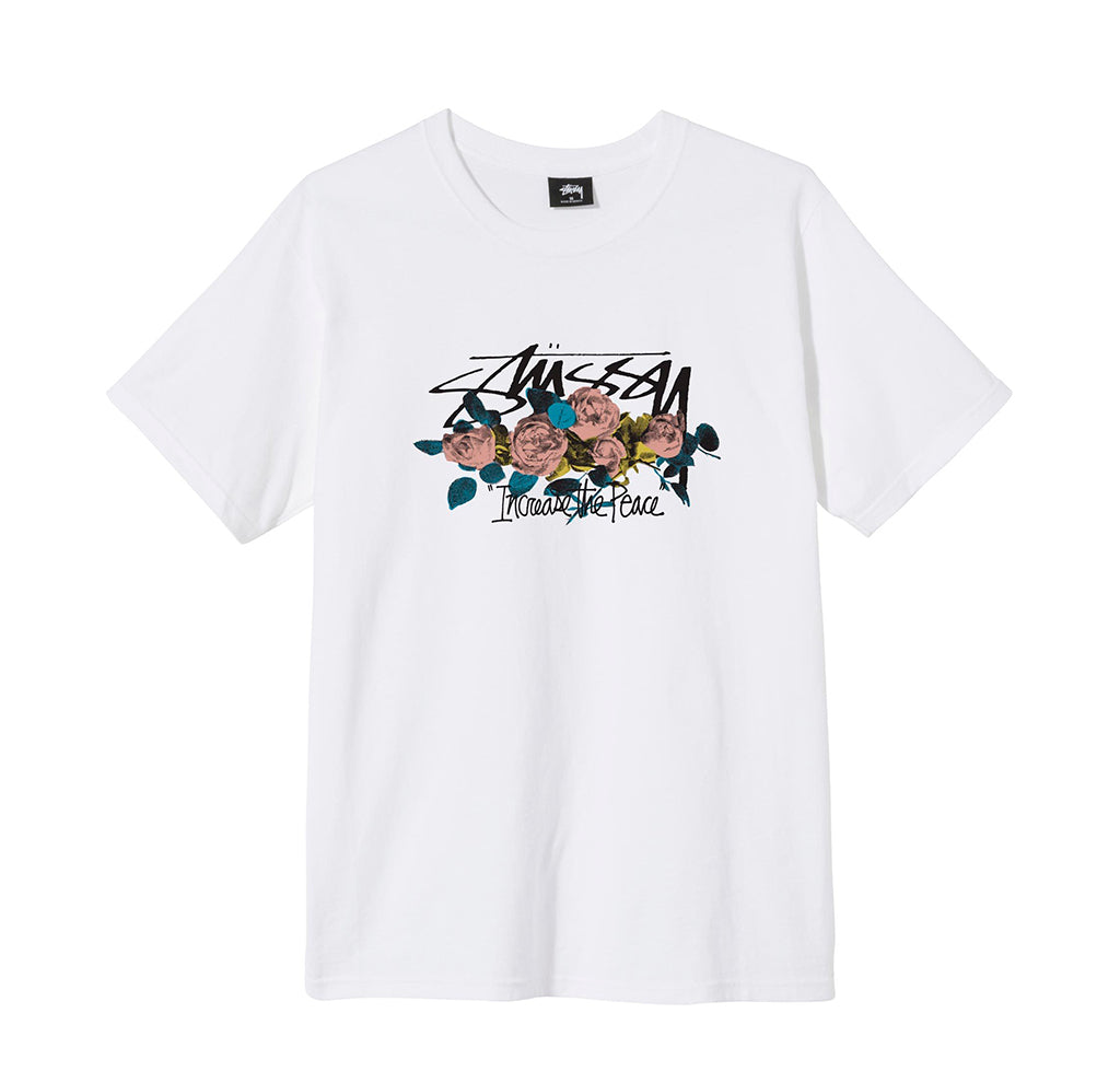 T-Shirts Stussy ITP Roses Tee: White - The Union Project, Cheltenham, free delivery