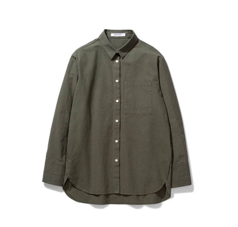 Norse Projects Women's Elsa Japanese Weave Shirt: Ivy Green