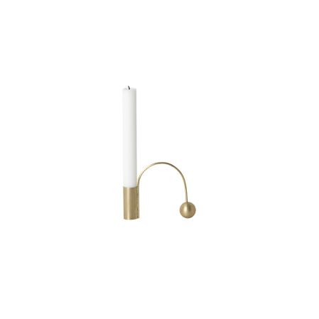 Home Fragrance + Candle Holders Ferm Living Balance Candle Holder: Brass - The Union Project