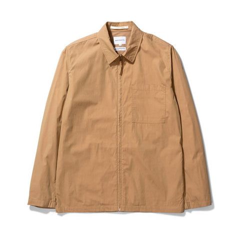 Norse Projects Jens Zip Packable: Utility Khaki