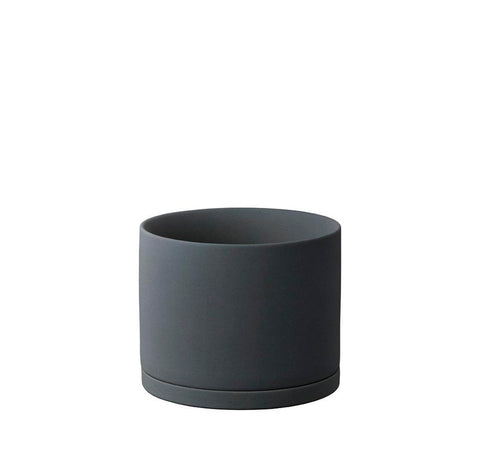 Plant Pots + Vases KINTO Plant Pot (135): Dark Grey - The Union Project, Cheltenham, free delivery
