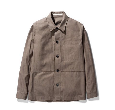 Shirts Norse Projects Kyle Cotton Linen: Taupe - The Union Project, Cheltenham, free delivery