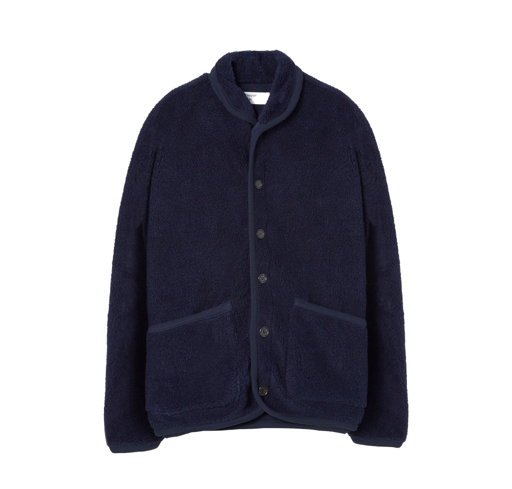 Outerwear Universal Works Fleece Lancaster Jacket: Navy - The Union Project, Cheltenham, free delivery