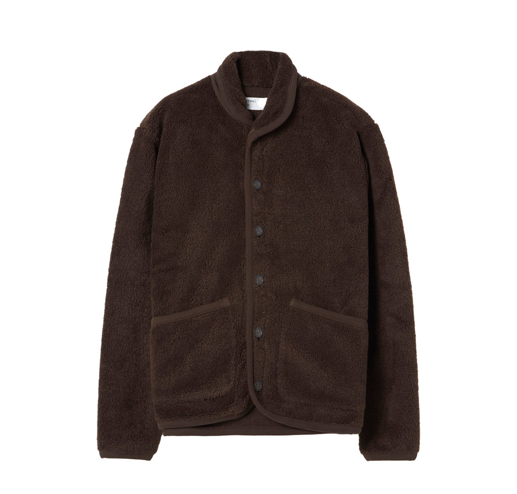 Outerwear Universal Works Fleece Lancaster Jacket: Chocolate - The Union Project, Cheltenham, free delivery