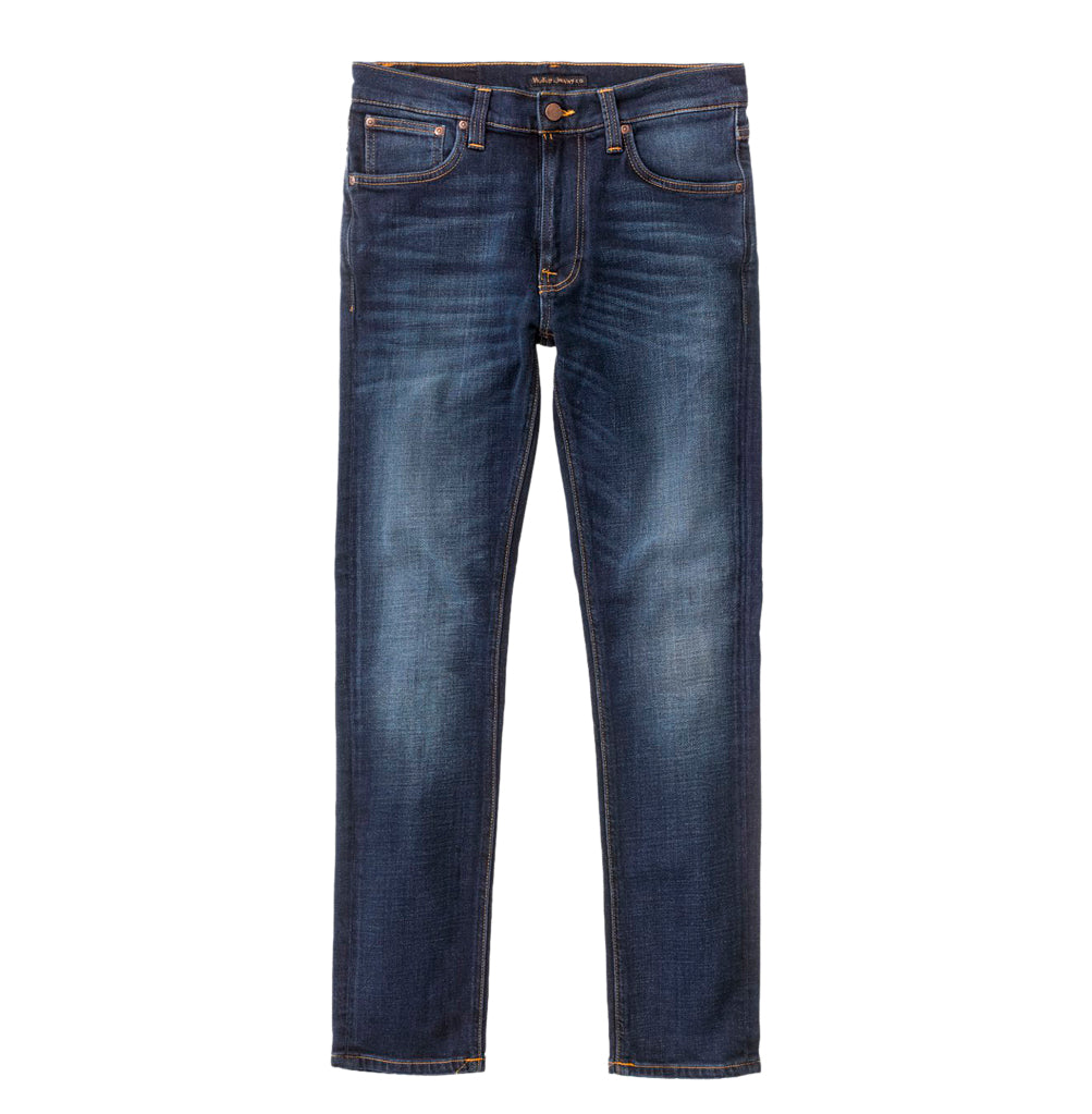 Nudie Jeans Lean Dean: Dark Deep Worn - The Union Project