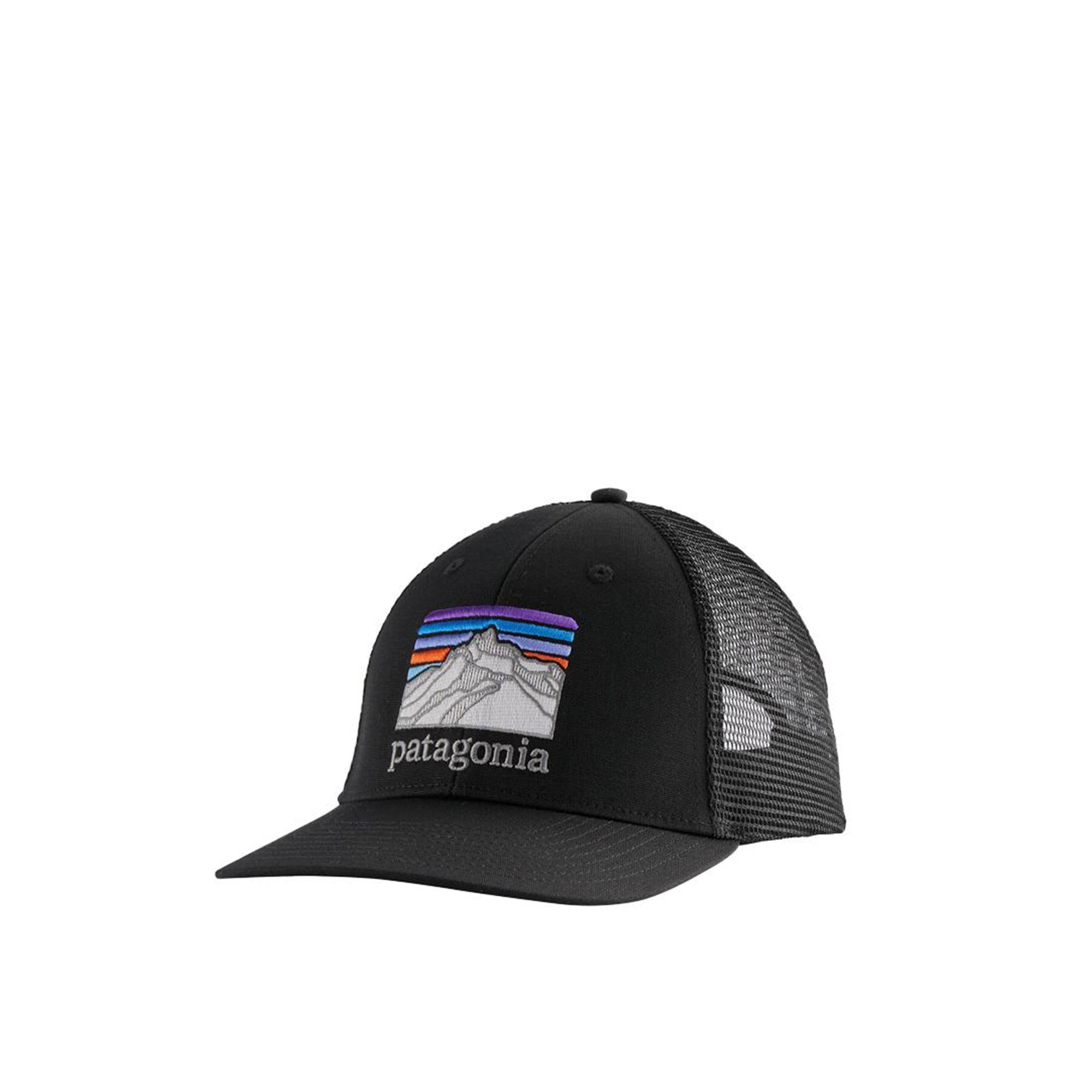 Patagonia Line Logo Ridge LoPro Trucker Hat: Black - The Union Project