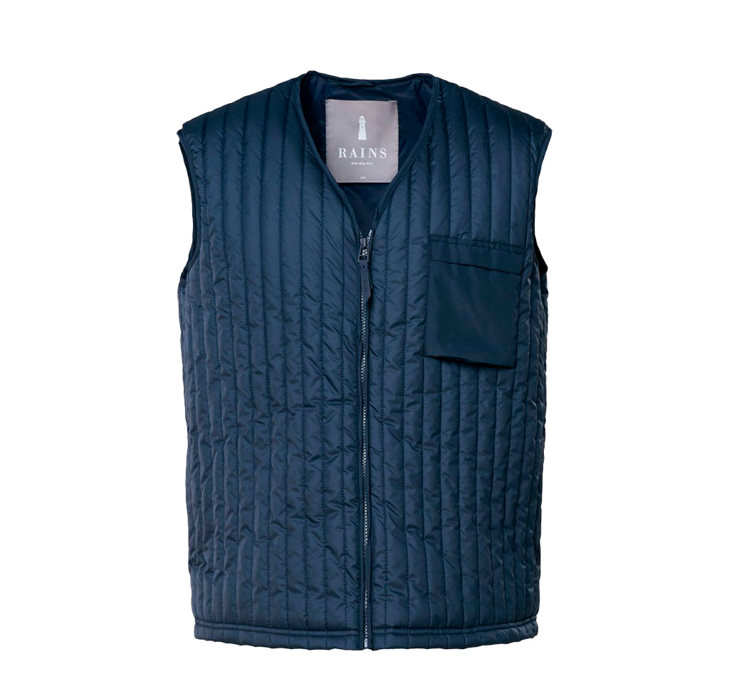 Outerwear Rains Liner Vest: Blue - The Union Project, Cheltenham, free delivery