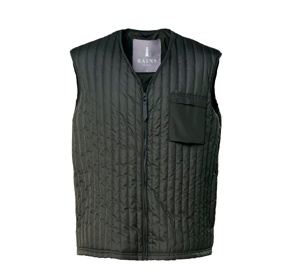 Outerwear Rains Liner Vest: Green - The Union Project, Cheltenham, free delivery