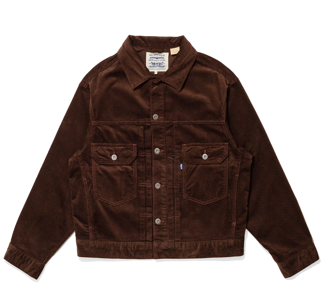 Levi's Made & Crafted Oversized Type II Trucker Jacket: Demitasse Cord