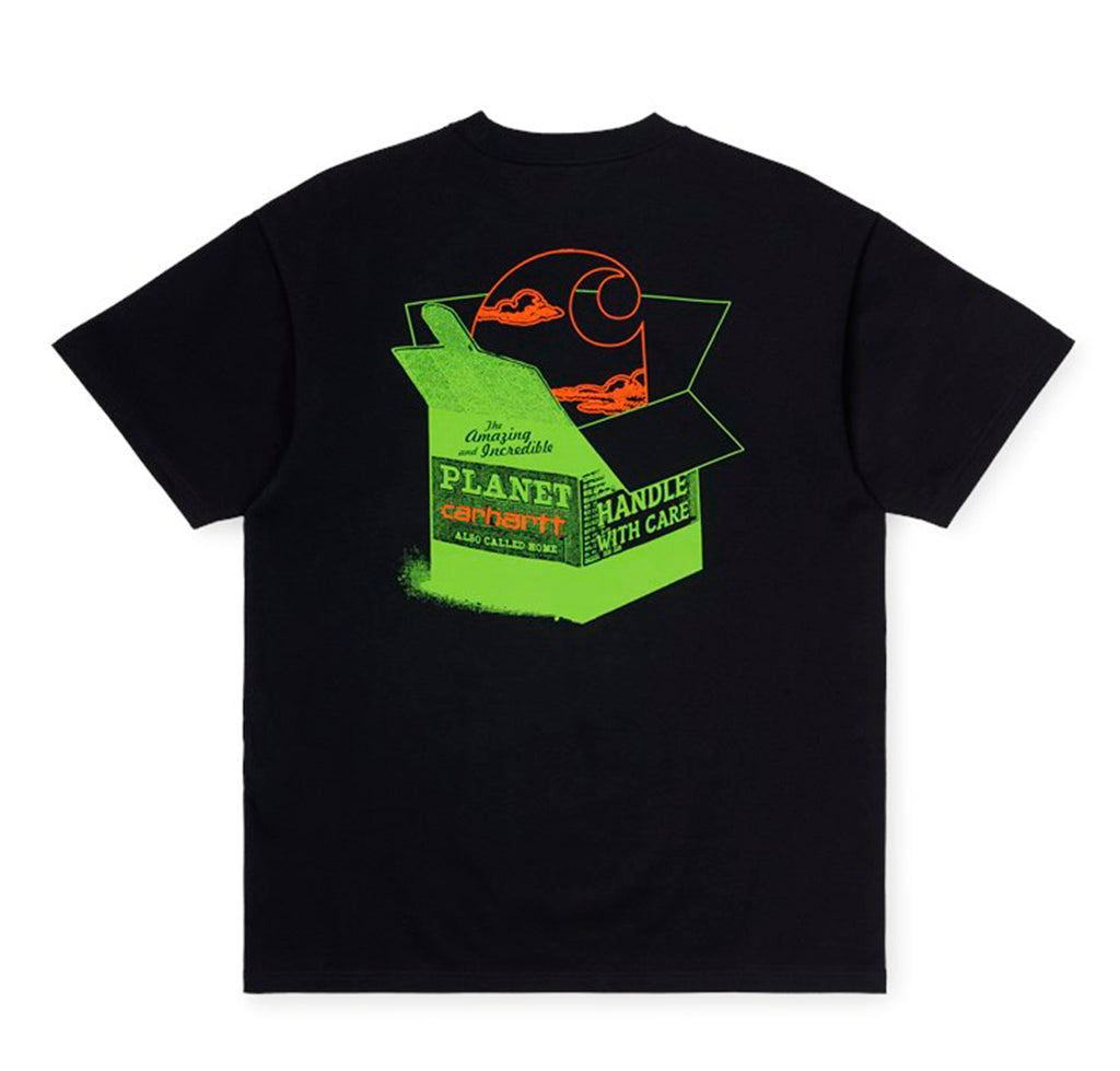 Carhartt WIP Love Planet T-Shirt: Black - The Union Project