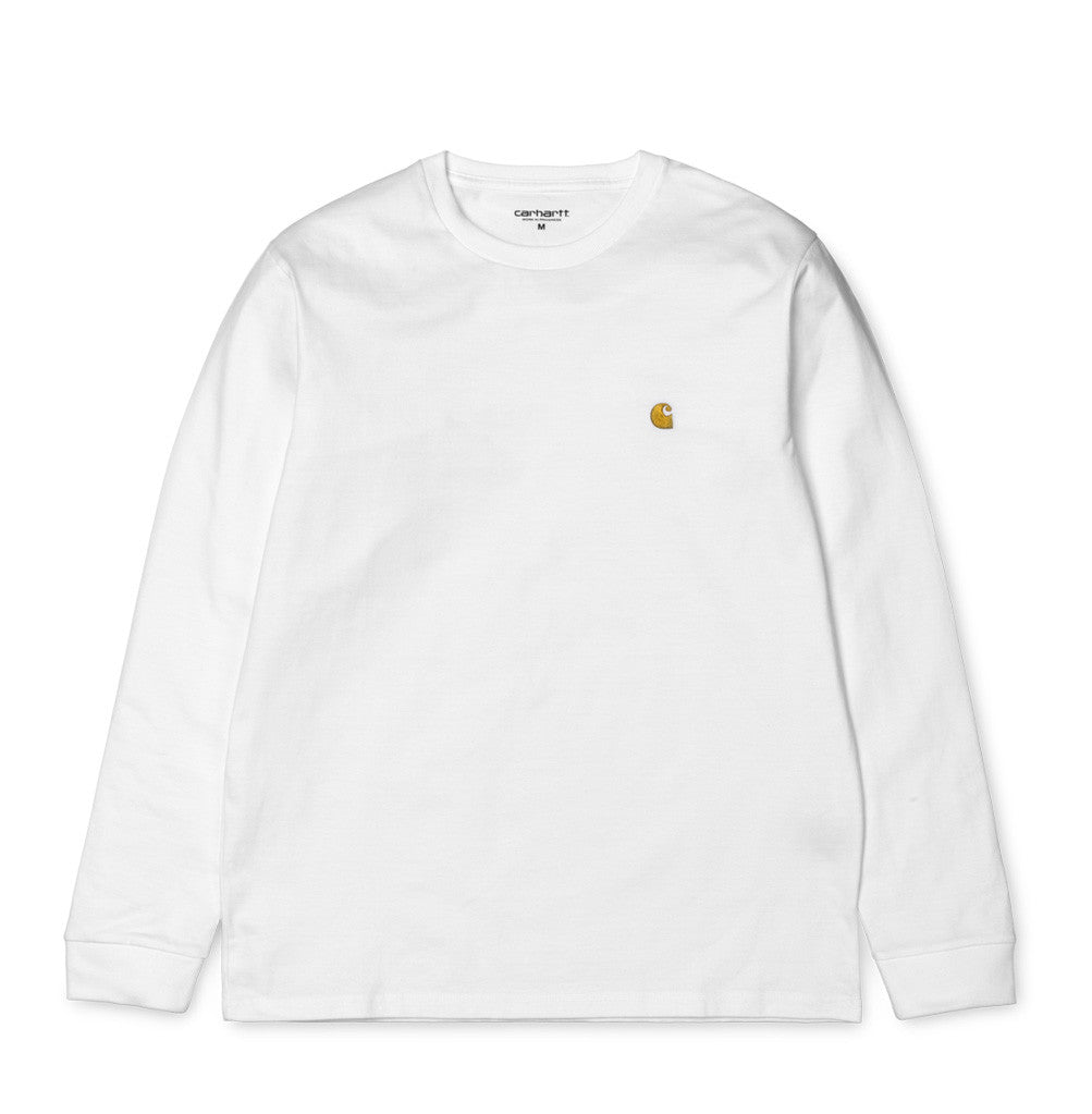 Carhartt WIP Chase Longsleeve T-Shirt: White - The Union Project