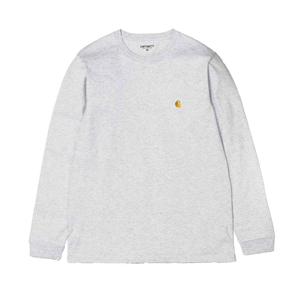 Carhartt WIP Chase Longsleeve T-Shirt: Ash Heather - The Union Project