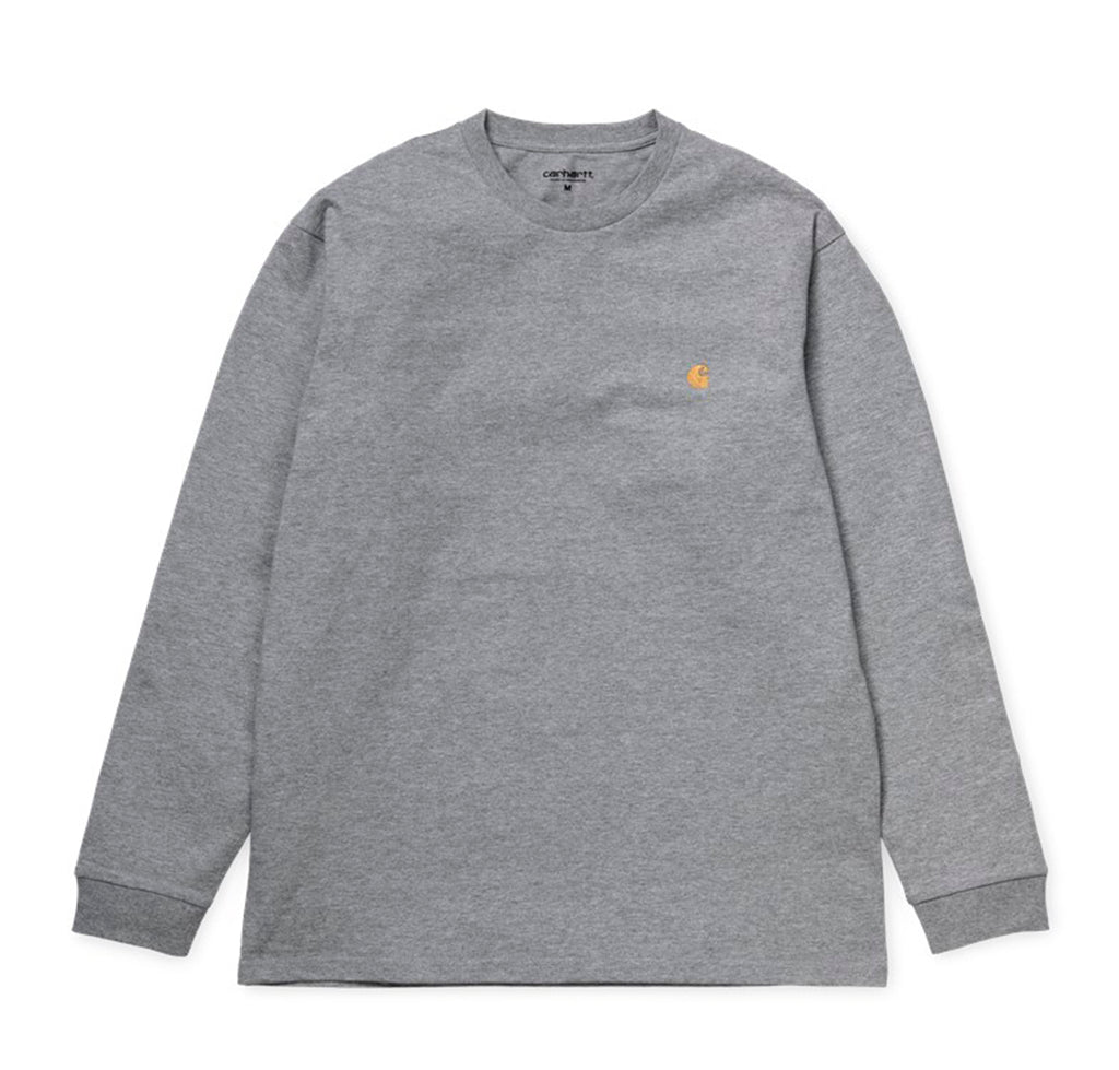 Carhartt WIP Chase Longsleeve T-Shirt: Grey Heather - The Union Project