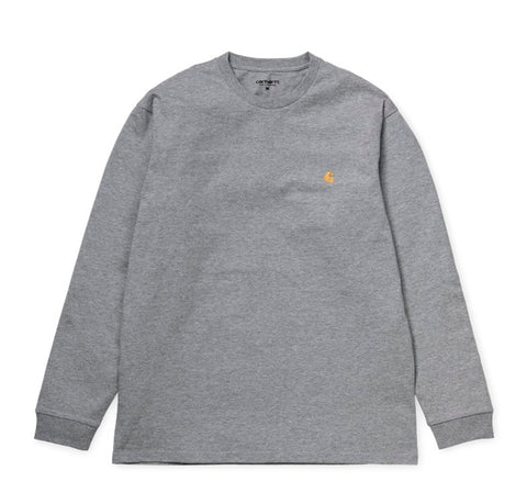 T-Shirts Carhartt WIP Chase Longsleeve T-Shirt: Grey Heather - The Union Project, Cheltenham, free delivery