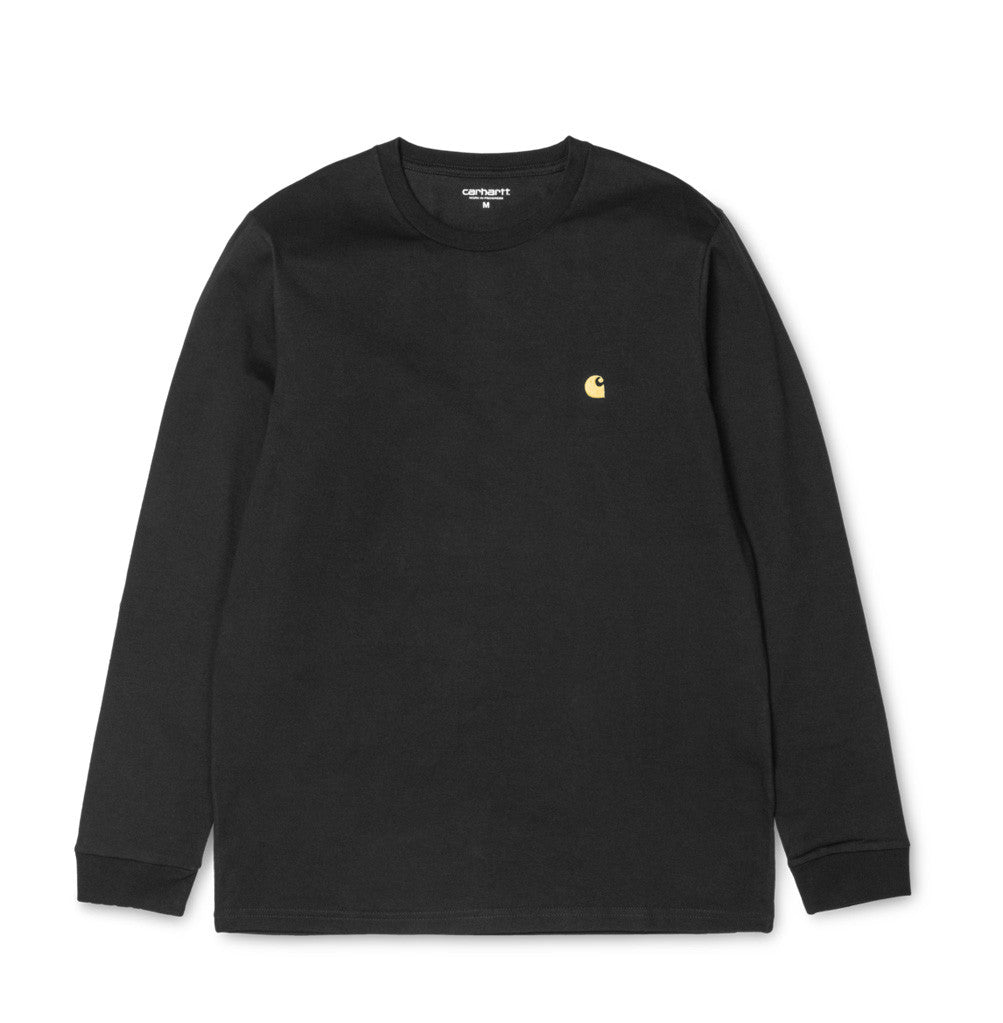 Carhartt WIP Chase Longsleeve T-Shirt: Black - The Union Project