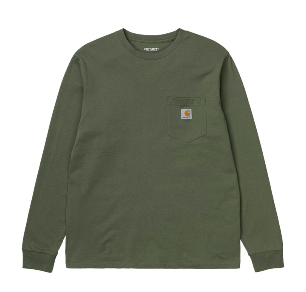 Carhartt WIP L/S Pocket T-Shirt: Dollar Green - The Union Project