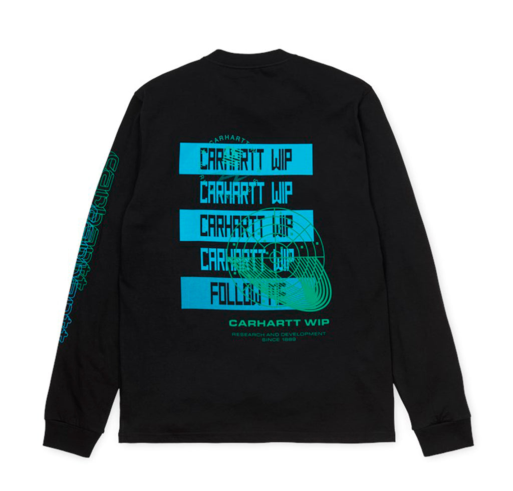 Carhartt WIP L/S Remix T-Shirt: Black - The Union Project