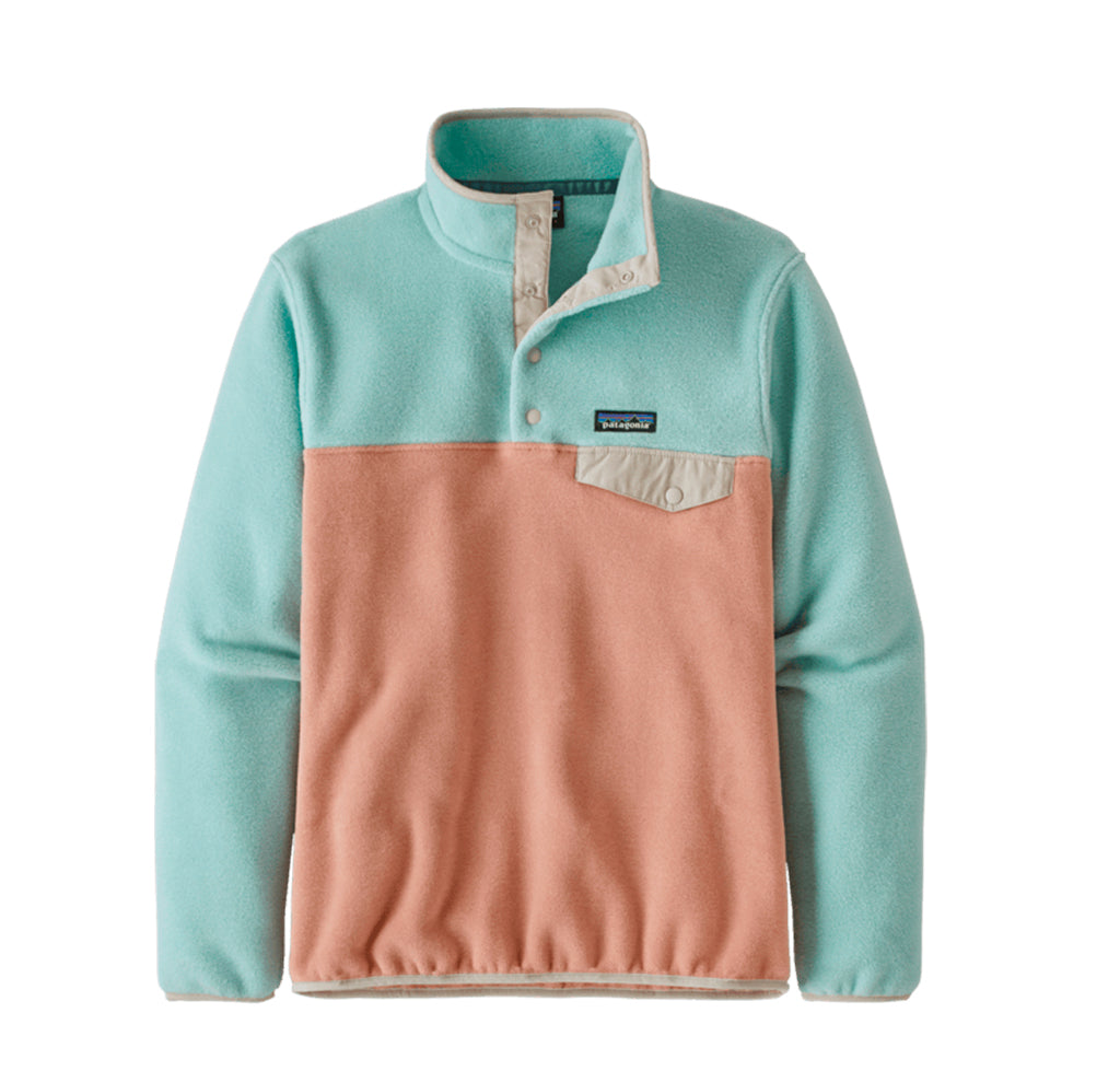 Hoods & Sweats Patagonia Womens LW Synch Snap-T P/O: Scotch Pink - The Union Project, Cheltenham, free delivery