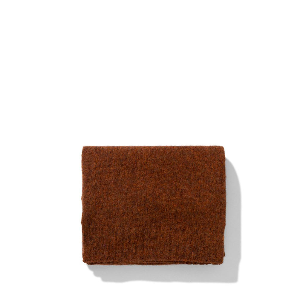 Norse Projects Womens Klara Brushed Lambswool Scarf: Madder Brown - The Union Project
