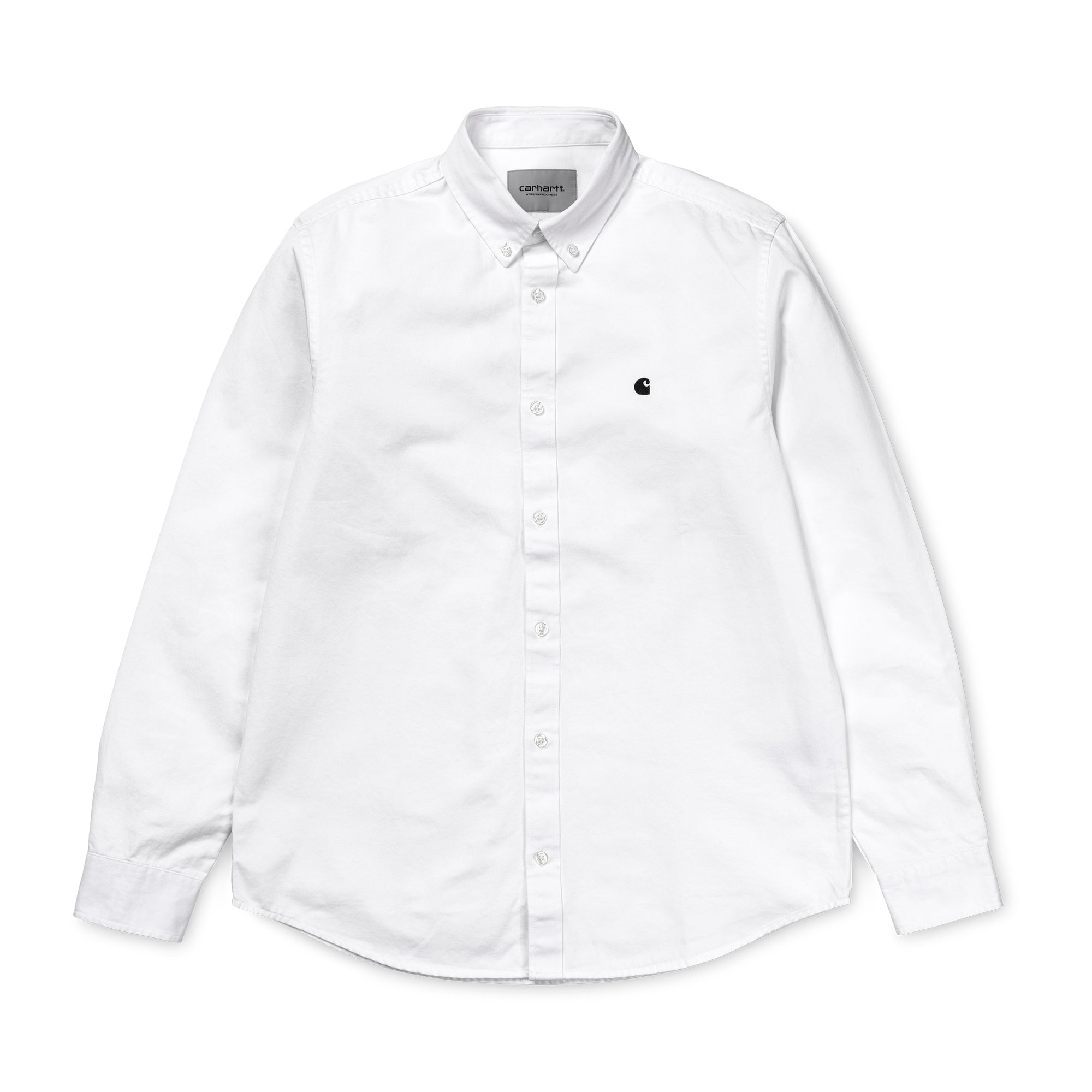 Carhartt WIP Madison Shirt: White / Black - The Union Project