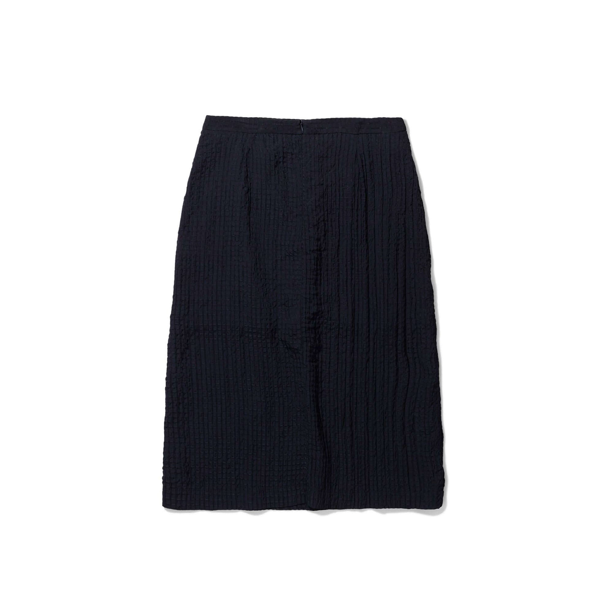 Norse Projects Womens Mirjam Light Check Skirt: Dark Navy - The Union Project