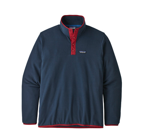 Hoods & Sweats Patagonia Micro D Snap-T P/O: New Navy w/Classic Red - The Union Project, Cheltenham, free delivery