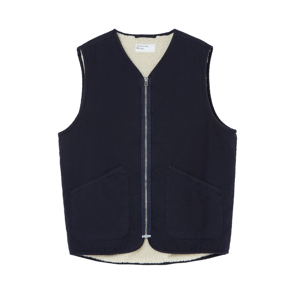 Outerwear Universal Works Military Liner Gilet: Navy - The Union Project, Cheltenham, free delivery