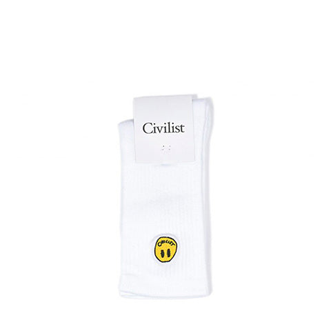 Civilist Mini Smiler Socks: White - The Union Project